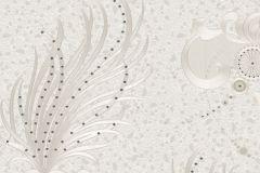 58555 cikkszámú tapéta.Különleges felületű,különleges motívumos,metál-fényes,fehér,szürke,vajszín,lemosható,vlies panel, fotótapéta