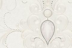 58558 cikkszámú tapéta.Barokk-klasszikus,különleges felületű,különleges motívumos,metál-fényes,ezüst,fehér,szürke,lemosható,vlies panel, fotótapéta