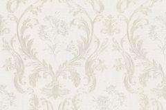 30601 cikkszámú tapéta.Barokk-klasszikus,különleges felületű,metál-fényes,bézs-drapp,fehér,vajszín,súrolható,vlies tapéta