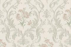 30603 cikkszámú tapéta.Barokk-klasszikus,különleges felületű,metál-fényes,bézs-drapp,pink-rózsaszín,szürke,súrolható,vlies tapéta