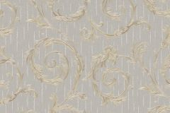 30609 cikkszámú tapéta.Barokk-klasszikus,különleges felületű,metál-fényes,arany,szürke,súrolható,vlies tapéta