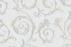 30612 cikkszámú tapéta.Barokk-klasszikus,különleges felületű,metál-fényes,kék,szürke,zöld,súrolható,vlies tapéta