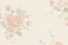 30613 cikkszámú tapéta.Barokk-klasszikus,különleges felületű,metál-fényes,virágmintás,bézs-drapp,pink-rózsaszín,súrolható,vlies tapéta