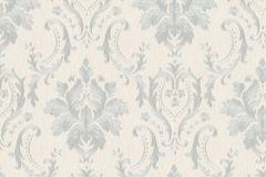 30624 cikkszámú tapéta.Barokk-klasszikus,különleges felületű,metál-fényes,ezüst,fehér,súrolható,vlies tapéta