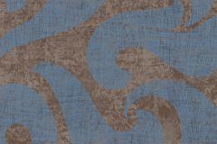 53138 cikkszámú tapéta.Absztrakt,metál-fényes,bronz,kék,lemosható,vlies tapéta