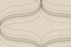 53153 cikkszámú tapéta.Geometriai mintás,metál-fényes,bézs-drapp,ezüst,lemosható,vlies tapéta