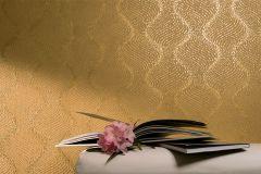 57906 cikkszámú tapéta.3d hatású,absztrakt,geometriai mintás,arany,barna,lemosható,vlies tapéta