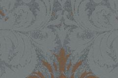 57919 cikkszámú tapéta.Barokk-klasszikus,barna,bronz,szürke,lemosható,vlies tapéta