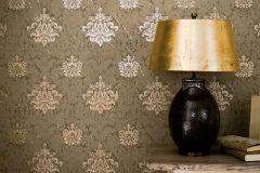 57920 cikkszámú tapéta.Barokk-klasszikus,barna,bronz,lemosható,vlies tapéta
