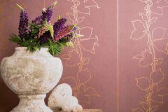57945 cikkszámú tapéta.Természeti mintás,pink-rózsaszín,piros-bordó,bronz,lemosható,vlies tapéta