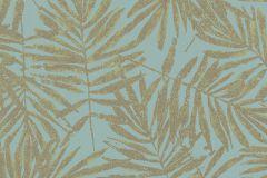 31319 cikkszámú tapéta.Különleges felületű,metál-fényes,természeti mintás,arany,türkiz,lemosható,vlies tapéta