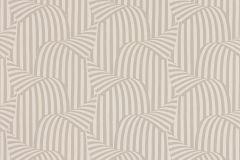 57251 cikkszámú tapéta.3d hatású,csíkos,különleges motívumos,retro,bézs-drapp,fehér,lemosható,vlies tapéta