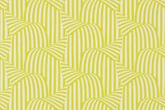 57252 cikkszámú tapéta.3d hatású,csíkos,különleges motívumos,retro,fehér,sárga,zöld,lemosható,vlies tapéta
