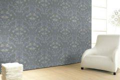 56003 cikkszámú tapéta.Különleges felületű,különleges motívumos,ezüst,kék,szürke,lemosható,vlies  tapéta