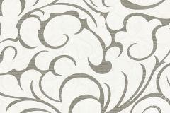 56028 cikkszámú tapéta.Absztrakt,különleges felületű,metál-fényes,fehér,szürke,lemosható,vlies  tapéta