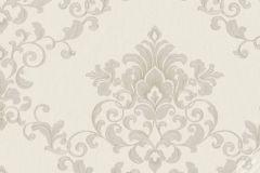 58222 cikkszámú tapéta.Barokk-klasszikus,ezüst,szürke,lemosható,vlies tapéta