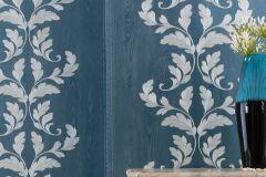 58255 cikkszámú tapéta.Barokk-klasszikus,kék,szürke,lemosható,illesztés mentes,vlies tapéta