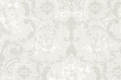 58263 cikkszámú tapéta.Barokk-klasszikus,fehér,szürke,lemosható,vlies tapéta
