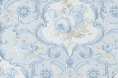 58267 cikkszámú tapéta.Virágmintás,bézs-drapp,fehér,kék,lemosható,vlies tapéta