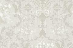 58268 cikkszámú tapéta.Barokk-klasszikus,virágmintás,fehér,szürke,lemosható,vlies tapéta