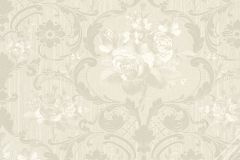 58269 cikkszámú tapéta.Barokk-klasszikus,virágmintás,bézs-drapp,fehér,lemosható,vlies tapéta