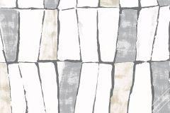 31221 cikkszámú tapéta.3d hatású,absztrakt,különleges felületű,bézs-drapp,fehér,szürke,lemosható,vlies tapéta