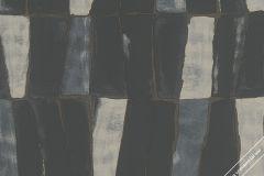 31222 cikkszámú tapéta.3d hatású,absztrakt,különleges felületű,barna,fekete,kék,szürke,lemosható,vlies tapéta