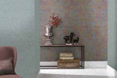 31216 cikkszámú tapéta.Absztrakt,dekor,különleges felületű,kék,narancs-terrakotta,piros-bordó,lemosható,illesztés mentes,vlies tapéta