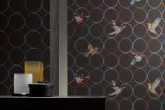 55501 cikkszámú tapéta.Geometriai mintás,barna,kék,szürke,türkiz,lemosható,vlies tapéta