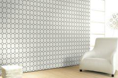 59716 cikkszámú tapéta.Geometriai mintás,különleges felületű,különleges motívumos,retro,fehér,fekete,lemosható,vlies tapéta