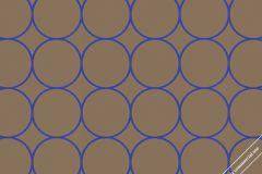 59721 cikkszámú tapéta.Geometriai mintás,különleges felületű,különleges motívumos,retro,barna,kék,lemosható,vlies tapéta