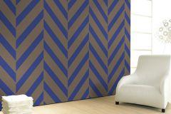 59725 cikkszámú tapéta.Absztrakt,különleges felületű,különleges motívumos,barna,kék,lemosható,vlies tapéta