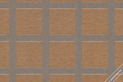 59734 cikkszámú tapéta.Geometriai mintás,különleges felületű,különleges motívumos,retro,narancs-terrakotta,szürke,lemosható,vlies tapéta
