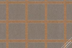 59737 cikkszámú tapéta.Absztrakt,geometriai mintás,különleges felületű,különleges motívumos,retro,barna,szürke,lemosható,vlies tapéta
