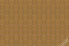59747 cikkszámú tapéta.3d hatású,absztrakt,különleges felületű,különleges motívumos,arany,barna,lemosható,vlies tapéta