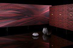 58303 cikkszámú tapéta.Absztrakt,különleges felületű,barna,fekete,narancs-terrakotta,piros-bordó,lemosható,vlies tapéta
