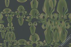 58315 cikkszámú tapéta.3d hatású,absztrakt,különleges felületű,különleges motívumos,barna,zöld,lemosható,papír tapéta