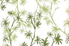 DM201-1 cikkszámú tapéta.Virágmintás,természeti mintás,rajzolt,fehér,zöld,gyengén mosható,vlies poszter, fotótapéta