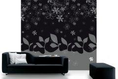 DM203-2 cikkszámú tapéta.Absztrakt,rajzolt,retro,természeti mintás,fehér,fekete,szürke,gyengén mosható,vlies poszter, fotótapéta