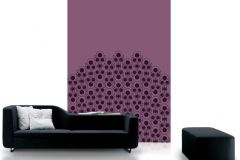 DM205-2 cikkszámú tapéta.Absztrakt,geometriai mintás,különleges motívumos,rajzolt,retro,fekete,lila,pink-rózsaszín,gyengén mosható,vlies poszter, fotótapéta