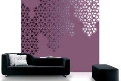 DM206-2 cikkszámú tapéta.Absztrakt,geometriai mintás,különleges motívumos,rajzolt,retro,ezüst,fekete,lila,pink-rózsaszín,szürke,gyengén mosható,vlies poszter, fotótapéta