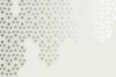 DM206-3 cikkszámú tapéta.Absztrakt,geometriai mintás,különleges motívumos,rajzolt,retro,bézs-drapp,fehér,szürke,zöld,gyengén mosható,vlies poszter, fotótapéta