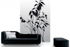 DM208-3 cikkszámú tapéta.Virágmintás,természeti mintás,fa hatású-fa mintás,különleges motívumos,rajzolt,fehér,szürke,fekete,gyengén mosható,vlies  tapéta