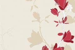 DM209-1 cikkszámú tapéta.Virágmintás,természeti mintás,rajzolt,fehér,piros-bordó,bézs-drapp,gyengén mosható,vlies poszter, fotótapéta