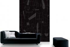 DM210-4 cikkszámú tapéta.Geometriai mintás,különleges motívumos,rajzolt,textilmintás,fekete,szürke,gyengén mosható,vlies poszter, fotótapéta