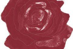 DM212-1 cikkszámú tapéta.Retro,különleges motívumos,rajzolt,virágmintás,piros-bordó,fehér,gyengén mosható,vlies poszter, fotótapéta
