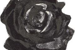 DM212-2 cikkszámú tapéta.Virágmintás,retro,rajzolt,fehér,szürke,fekete,gyengén mosható,vlies poszter, fotótapéta