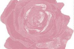 DM212-3 cikkszámú tapéta.Virágmintás,retro,különleges motívumos,rajzolt,fehér,pink-rózsaszín,gyengén mosható,vlies poszter, fotótapéta
