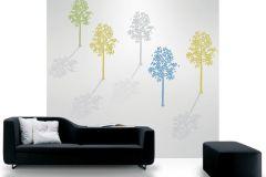 DM214-1 cikkszámú tapéta.Természeti mintás,absztrakt,fa hatású-fa mintás,különleges motívumos,rajzolt,szürke,kék,sárga,zöld,gyengén mosható,vlies poszter, fotótapéta