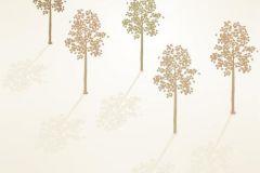 DM214-2 cikkszámú tapéta.Absztrakt,fa hatású-fa mintás,rajzolt,retro,természeti mintás,barna,bézs-drapp,fehér,gyengén mosható,vlies poszter, fotótapéta